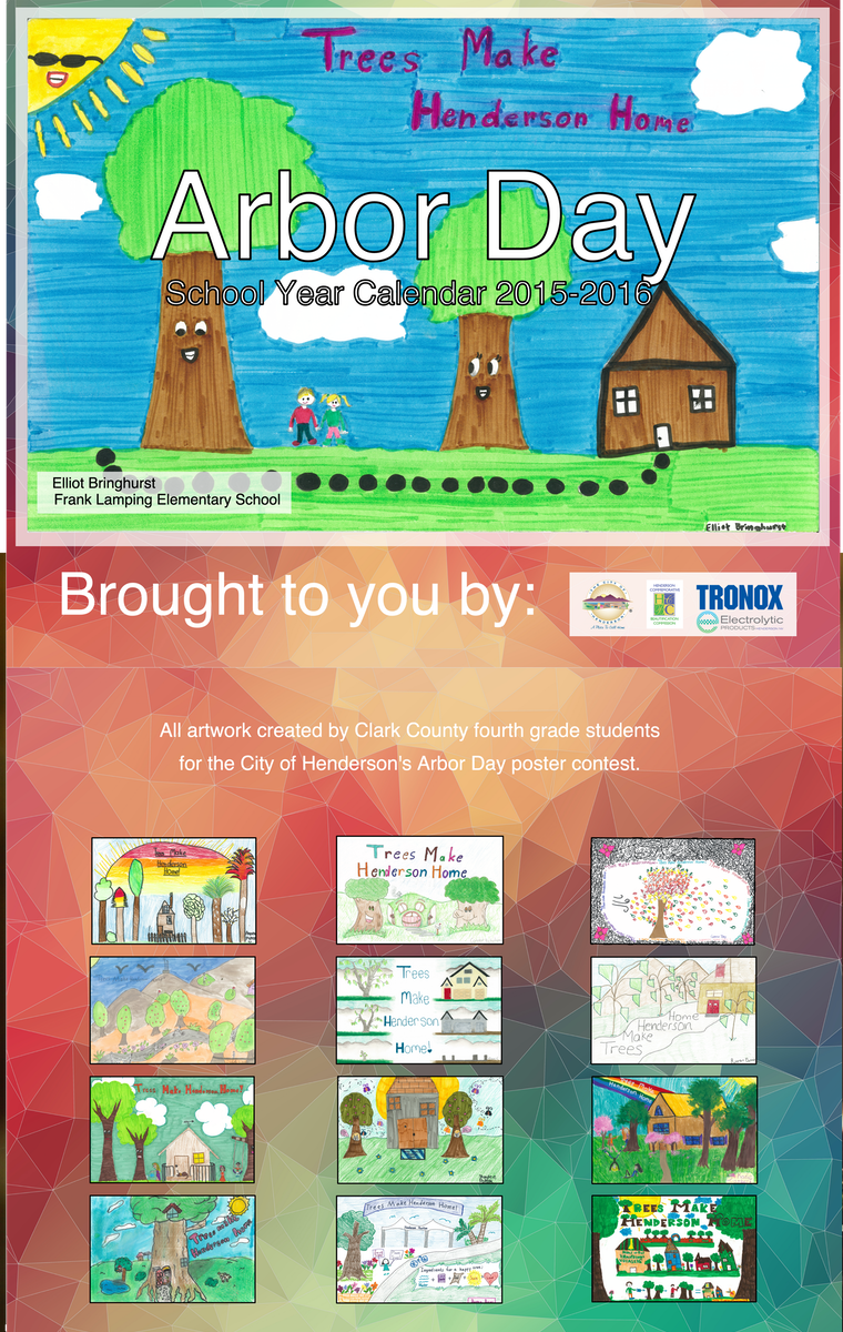 Arbor Day Calendar Designed by BluClay