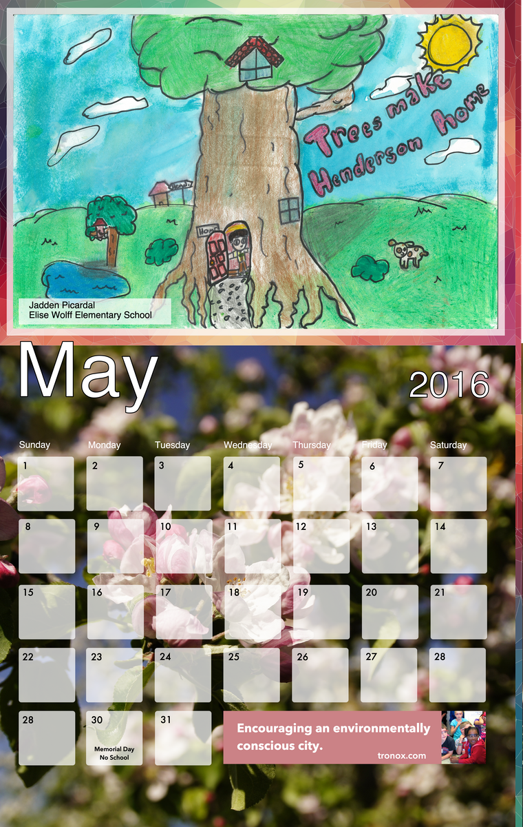 Arbor Day Calendar designed by BluClay Design Agency