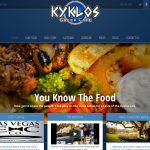 Kyklos Greek Cafe Website designed by bluclay